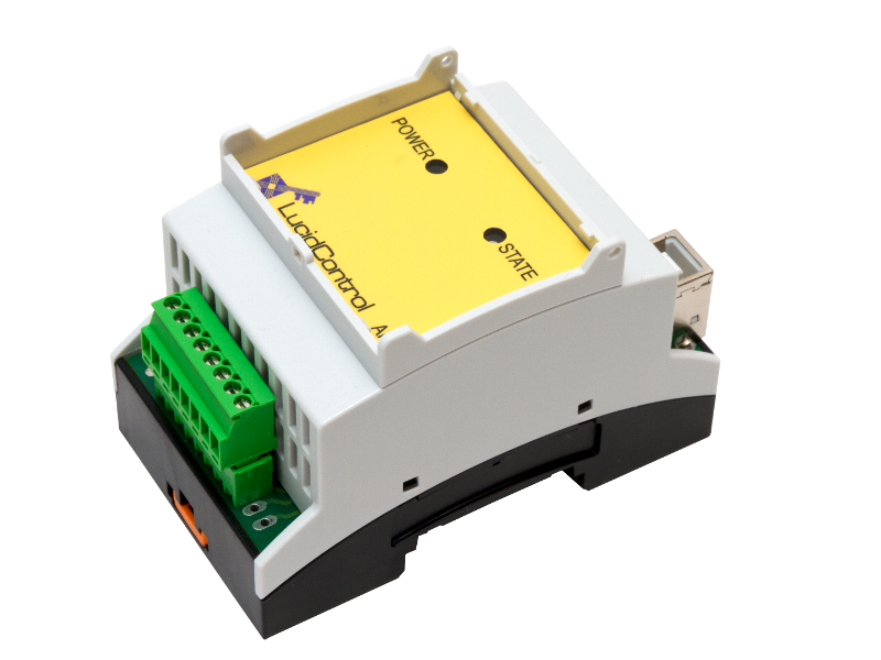 USB Analog Input Module ADC DAC 4 Channels DIN Rail 5V, 10V, 24V