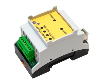 USB Digital Output Module with 4 Channels DIN-Rail