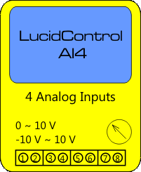 LucidControl USB Analog Input Module with 4 channels
