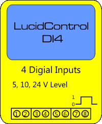LucidControl USB Digital Input Module with 4 channels