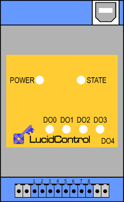 Schematic of LucidControl digital USB output module