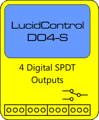 LucidControl USB Relay Module with 4 digital outputs