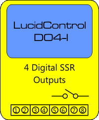 LucidControl USB Digital Output Module with 4 digital outputs