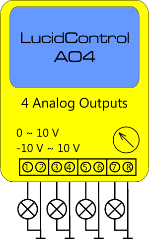 Lucid Control Analog Output Schematic Connection