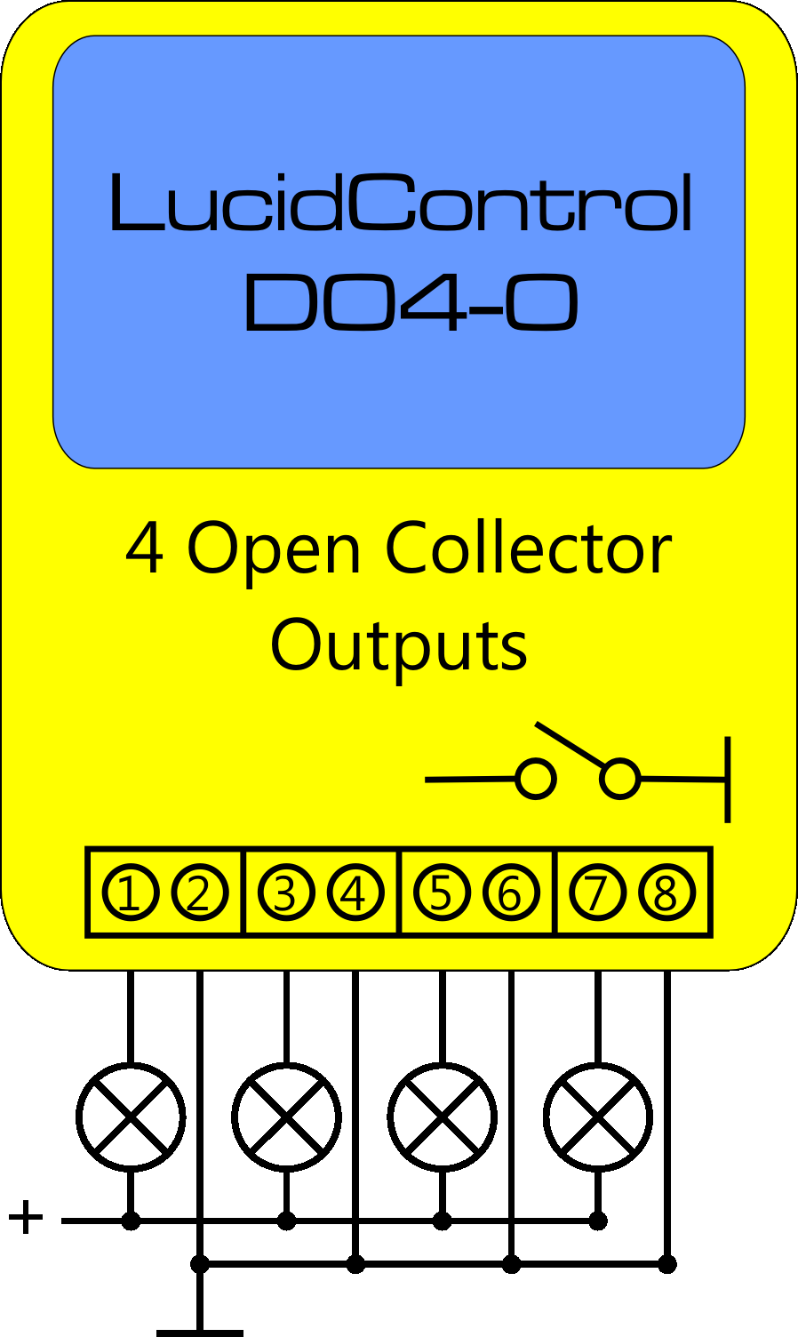 Lucid Control Digital Output Open Collector Schematic Connection
