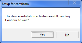 Pending Installation of com0com